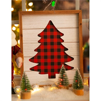 Cypress Home Plaid Tree Wood Wall Décor