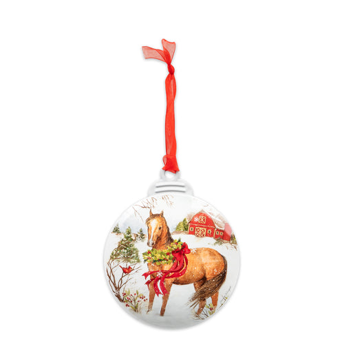 Brownlow Gifts Winter Horse Ornament