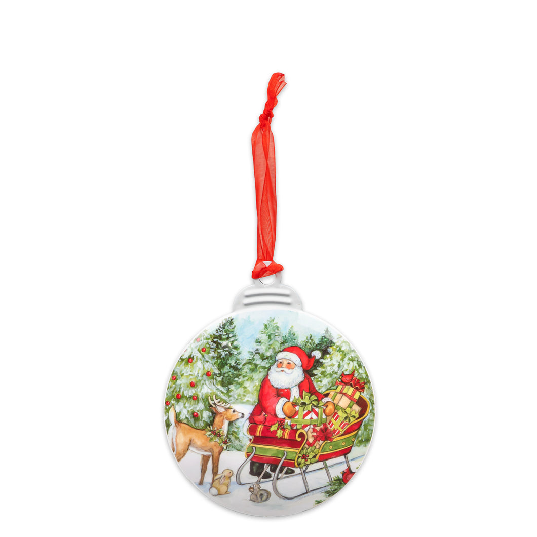 Brownlow Gifts Santa With Sleigh Ornament
