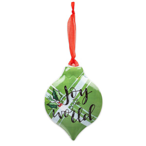 Brownlow Gifts Joy To The World Ornament