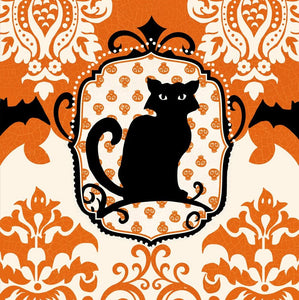 EVERGREEN SPOOKY CAT COCKTAIL NAPKINS