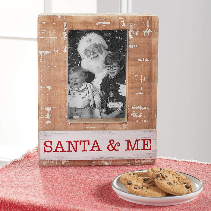 Mud Pie Santa and Me Block Frame