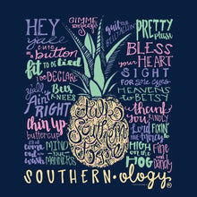 Load image into Gallery viewer, Southernology Talk Southern To Me Navy Short Sleeve T-shirt