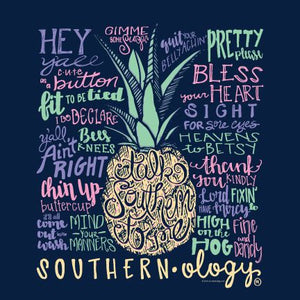 Southernology Talk Southern To Me Navy Short Sleeve T-shirt