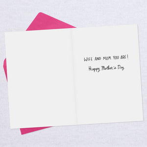 HALLMARK A BAD POEM FOR MY WIFE FUNNY MOTHER'S DAY CARD