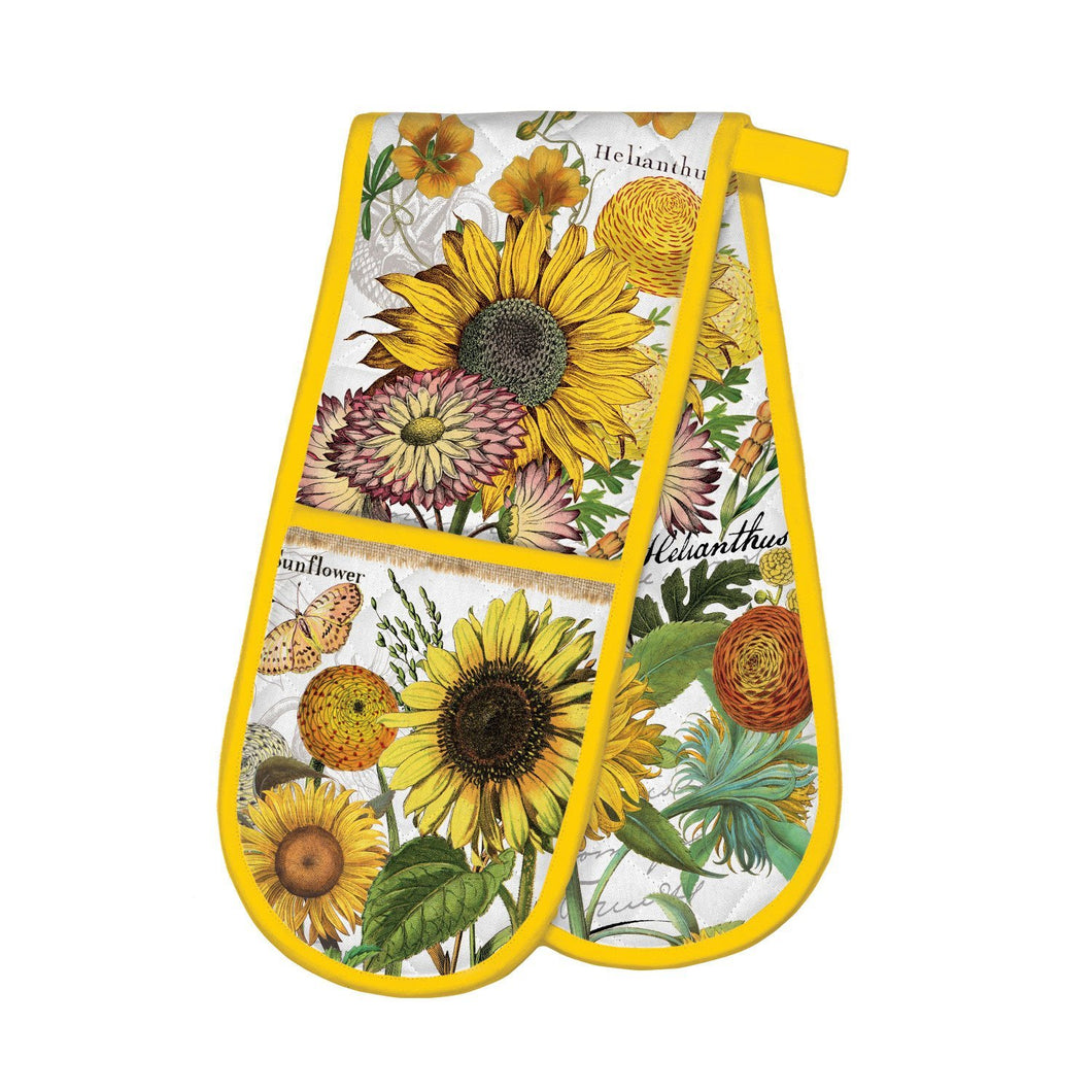Michel Design Works Sunflower Double Oven Glove