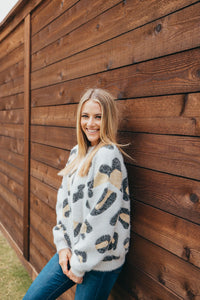 Simply Southern Brown Cheetah Sweater