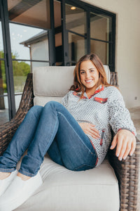 Simply Southern Collection Gray Simply Soft Pullover