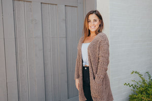Simply Southern Chenille Brown Cardigan