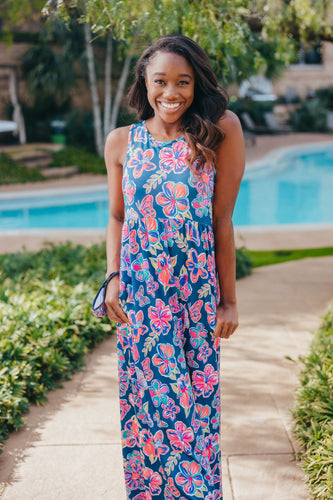 Simply Southern Butterfly Maxi Dress