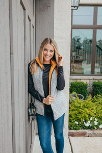 Simply Southern Collection Mustard Reversible Vest