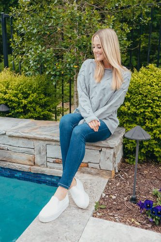 Simply Southern Collection Gray Weave Sweater
