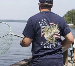 Straight Up Southern Bass America Short Sleeve T-shirt