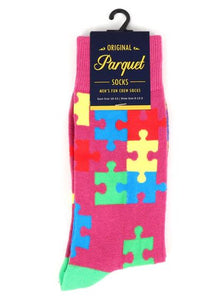 Parquet Men's Autism Awareness Novelty Socks