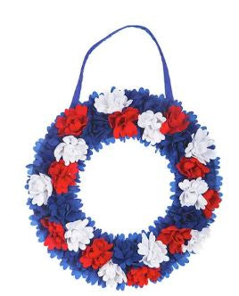 EVERGREEN AMERICANA FLORAL DOOR DECOR