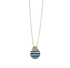 Michelle McDowell Lassen Navy Stripes Necklace