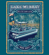 Load image into Gallery viewer, KOSS CUSTOM LAKE MURRAY BOAT WITH FIREWORKS T-SHIRT