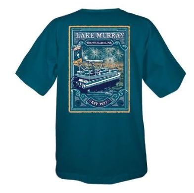 KOSS CUSTOM LAKE MURRAY BOAT WITH FIREWORKS T-SHIRT