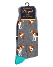 Load image into Gallery viewer, Parquet Men's Beagle Novelty Socks