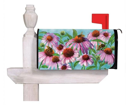 EVERGREEN BEES AND CONEFLOWERS MAILBOX COVER