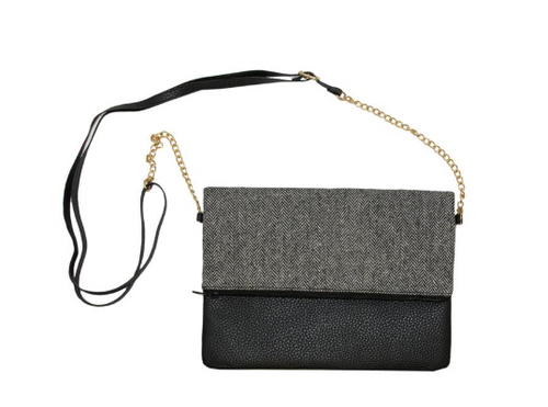 MAINSTREET COLLECTION - BLACK CLUTCH CROSSBODY