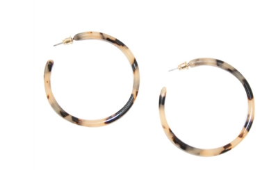 MAINSTREET COLLECTION BLONDE TORTOISE HOOPS - LARGE