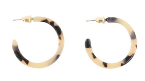 MAINSTREET COLLECTION BLONDE TORTOISE HOOPS - SMALL