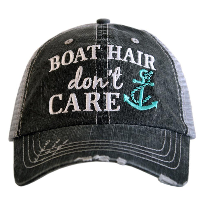 Katydid Collection Boat Hair Teal Distressed Hat