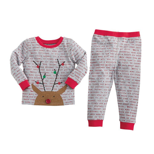 Mud Pie Rudolph Boys Pajamas