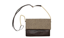 Load image into Gallery viewer, MAINSTREET COLLECTION - BROWN CLUTCH CROSSBODY