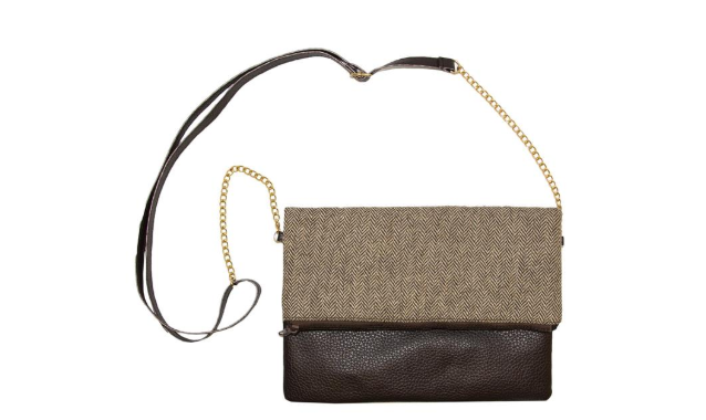MAINSTREET COLLECTION - BROWN CLUTCH CROSSBODY