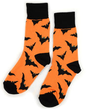 Load image into Gallery viewer, Parquet Ladies Halloween Bat Novelty Crew Socks