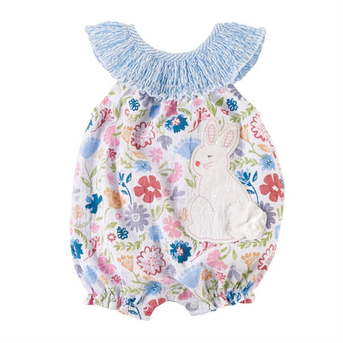 Mud Pie Smocked Bunny Bubble