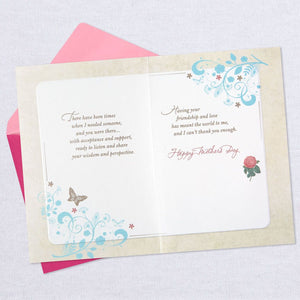 HALLMARK ROSES AND BUTTERFLIES LIKE A MOM MOTHER'S DAY CARD