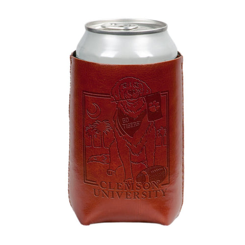 Palmetto Shirt Co. Clemson University Dog Faux Leather Koozie