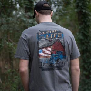 STRAIGHT UP SOUTHERN COUNTRY FOR LIFE SHORT SLEEVE T-SHIRT