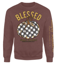 Load image into Gallery viewer, Simply Southern Collection Blessed Crew Sweatshirt