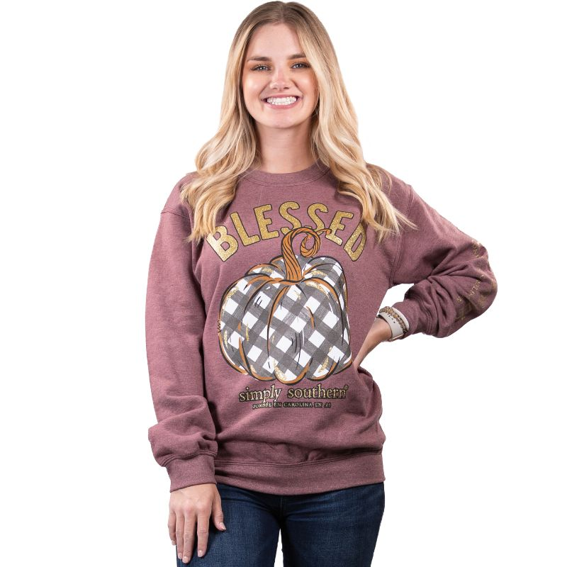 Simply Southern Collection Blessed Crew Sweatshirt