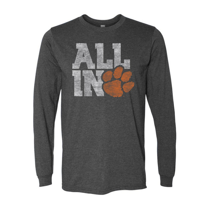 Clemson University All In Long Sleeve T-shirts