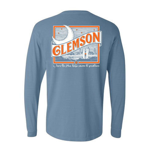 Tigertown Graphics Clemson University Moon Long Sleeve T-shirt