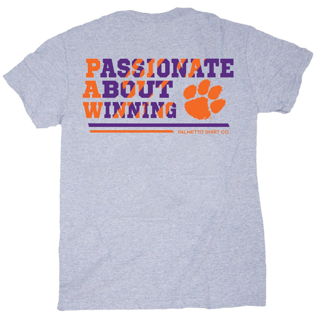PALMETTO SHIRT CO. CLEMSON PAW PASSION SHORT SLEEVE  T-SHIRT