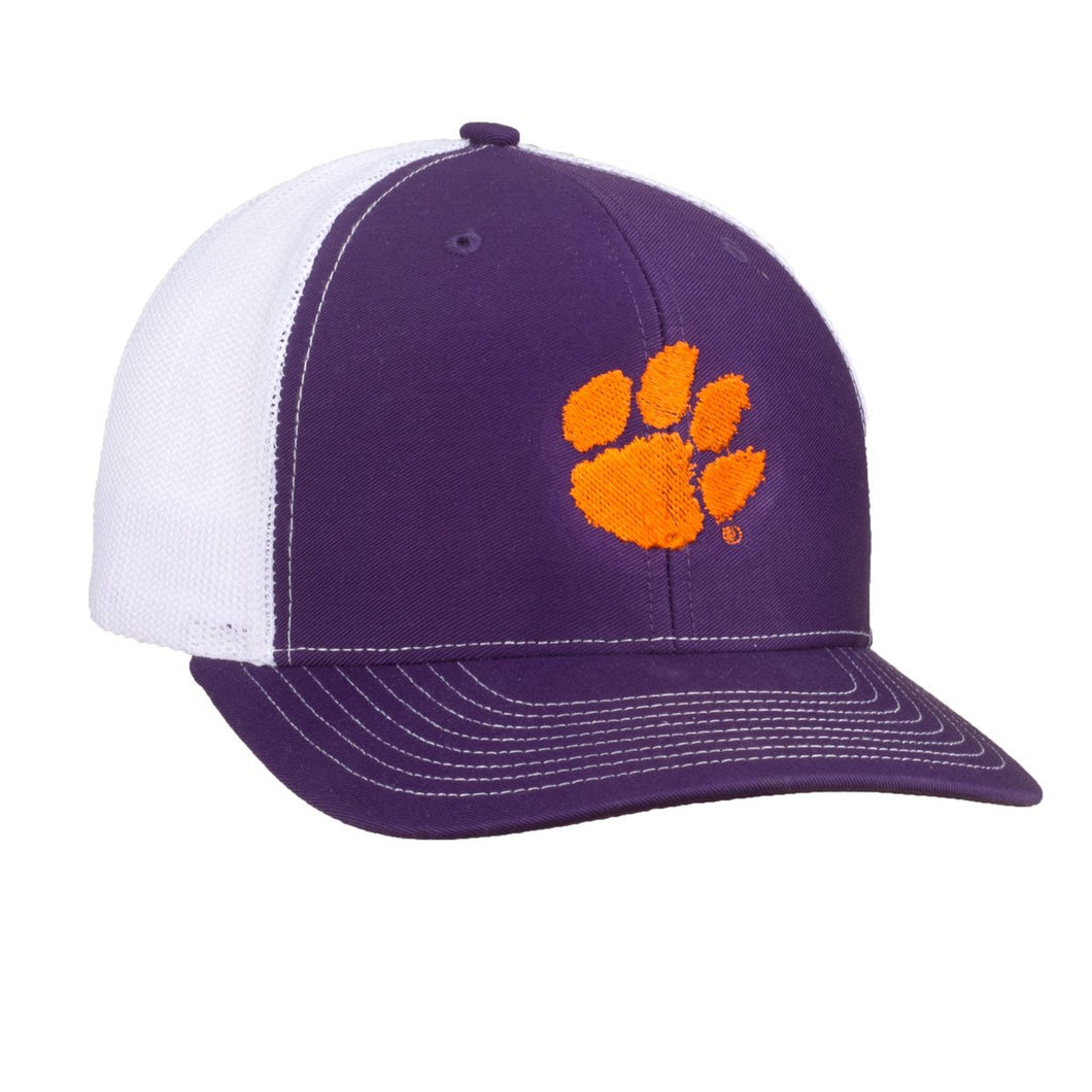 PALMETTO SHIRT CO. CLEMSON MESH HAT - PURPLE AND WHITE