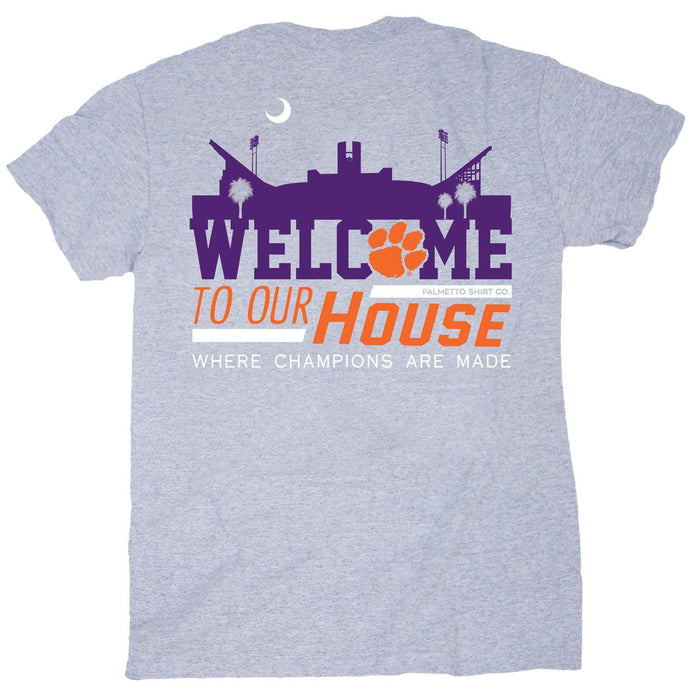 PALMETTO SHIRT CO. CLEMSON WELCOME TO OUR HOUSE T-SHIRT