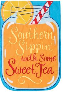 CUSTOM DECOR SOUTHERN SIPPIN GARDEN FLAG