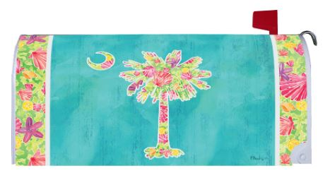 CUSTOM DECOR PALMETTO BRIGHT MAILBOX COVER