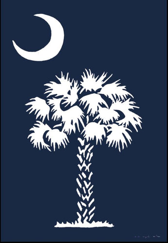 CUSTOM DECOR PALMETTO MOON GARDEN FLAG