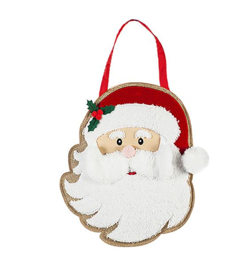 Evergreen Santa Door Decor