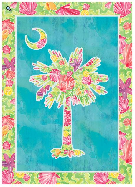 CUSTOM DECOR PALMETTO BRIGHT GARDEN FLAG