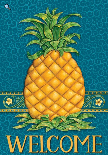 Custom Decor Pineapple Welcome Garden Flag