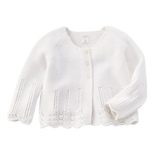 Mud Pie White Eyelet Cardigan
